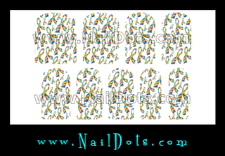 Autism Ribbon Nail Wraps