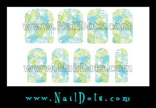 Tropical Leaf Nail Wraps