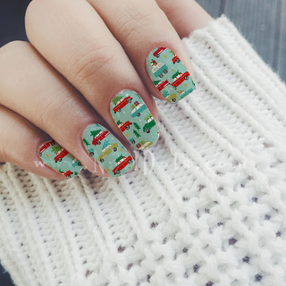 Christmas Tree and Truck Nail Wraps or Tips
