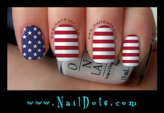 Flag Nail Wraps or Nail Tips