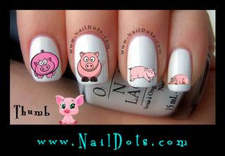 Cute Pig Nail Decal
