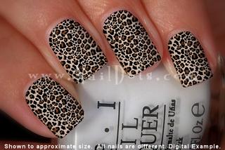 Leopard Nail Wraps - Brown