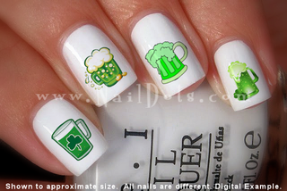 Green Beer Nail Decals