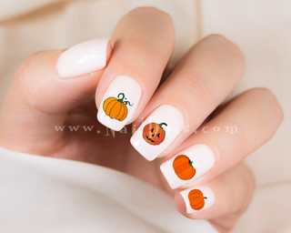 Fall Pumpkin Nail Decals