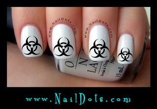 Biohazard Nail Decals