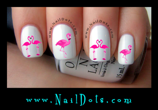 Flamingo Nail Decal