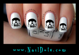 Hollow Skull Nail Decals