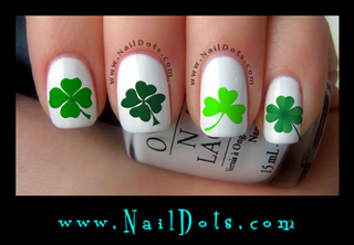 Shamrock Nail Decals