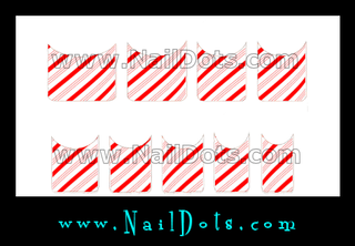 Candy Cane Nail Tips - CLEARANCE
