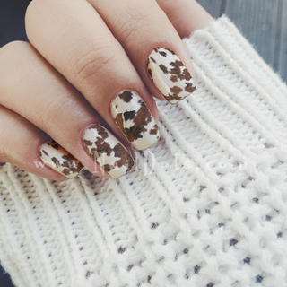 Cow Print Nail Wraps or Nail Tips