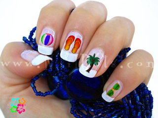 Beach Bum Nail Decal