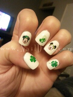 St Patrick's Mickey Nail Decals
