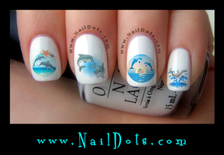 Dolphin Set 3 Nail Decal