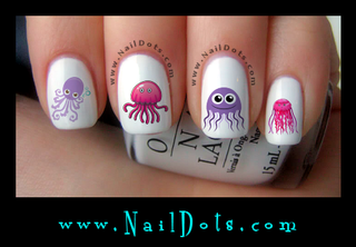 Jellyfish Nail Decal