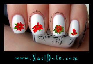 Poinsettia Nail Decals