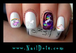 Unicorn Nail Decals