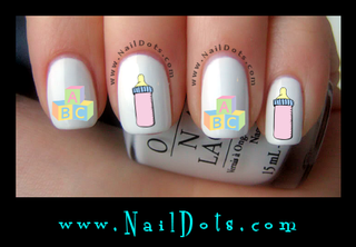 Baby Blocks and Bottle Nail Decals