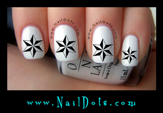 6 Point Star Nail Decals