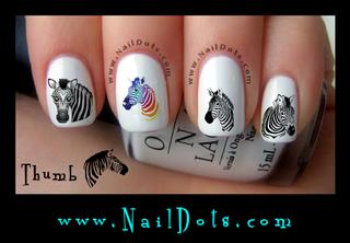 Zebra Nail Decals, Set 1