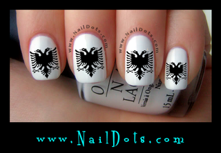 Albanian Eagle Nail Decals