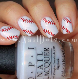 Baseball Lace Nail Wraps