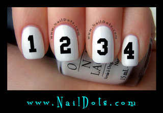Sport Numbers Nail Decals