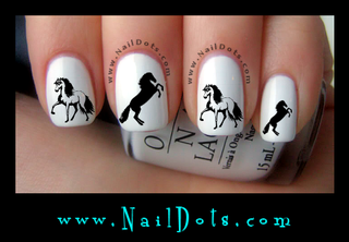 Horse Nail Decal HS2