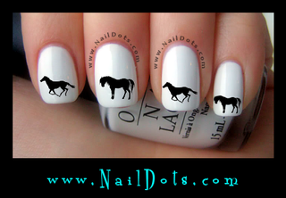 Horse Silhouette Nail Decal