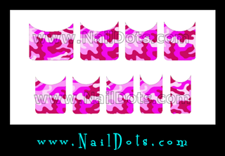 Pink Camo Nail Tips - CLEARANCE