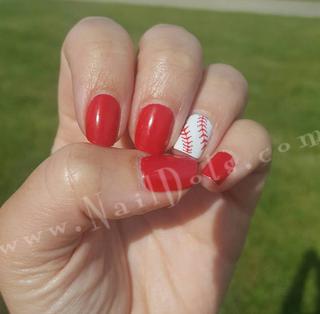 Baseball Lace Nail Wraps