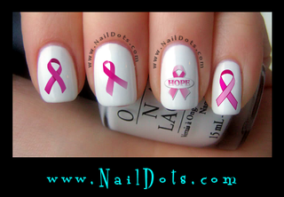 Breast Cancer Awareness Nail Decals