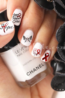 Multiple Myeloma Awareness Nail Decals