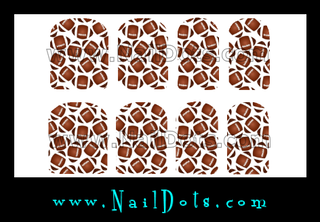 Football Nail Wraps or Nail Tips
