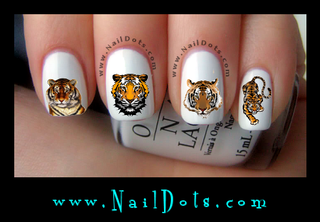 Tiger Nail Decal