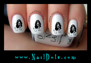 Basset Hound Drawing Nail Decals