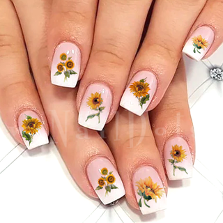 Faded Sunflower Nail Decal
