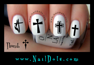 Cross Nail Decal - Set 1
