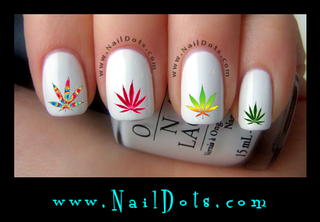 Pot Leaf Nail Decal