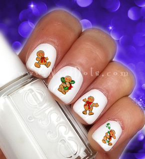 Gingerbread Man Nail Decals