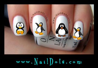 Penguin Nail Decal