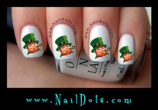Leprechaun Nail Decals