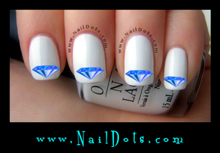 Blue Diamond Nail Decals