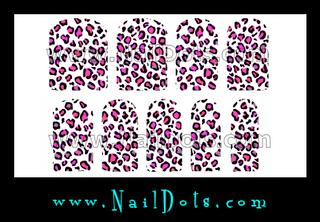 Leopard Nail Wraps - Pink