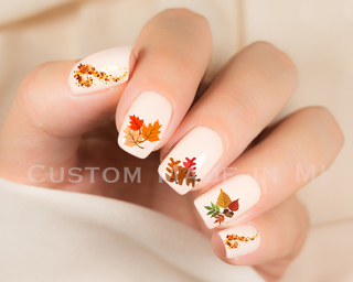 Autumn Leaves Nail Decals