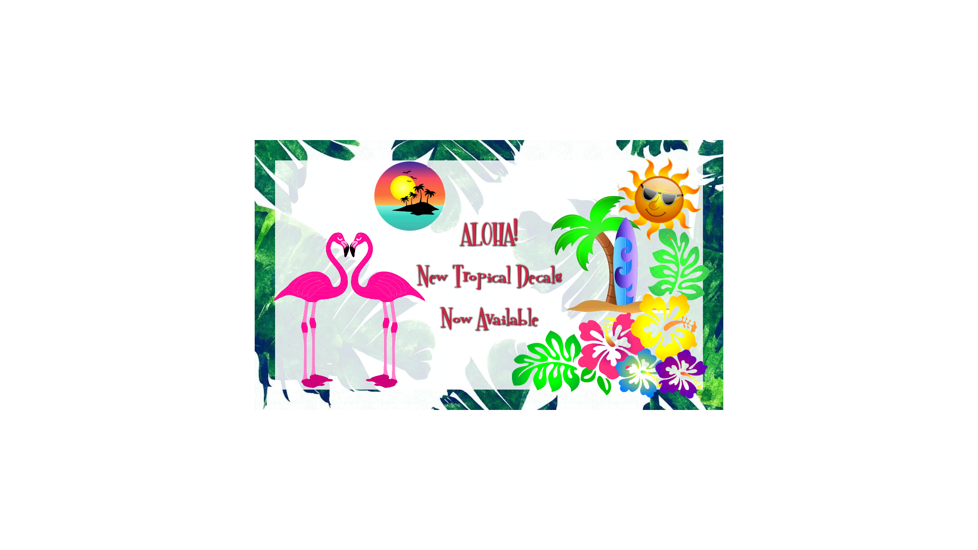 Tropical Nail Decals