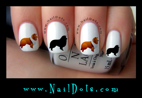 Collie Nail Decals