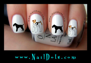 Fox Terrier Nail Decals
