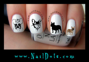 French Bulldog Nail Decals