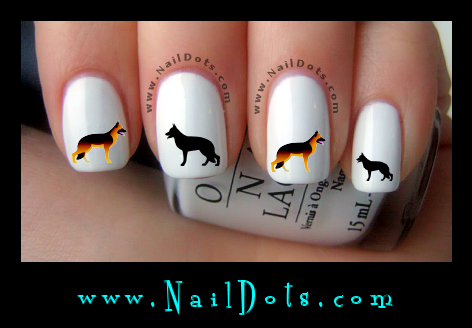 German Shepherd Nail Decals