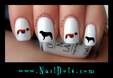 Saint Bernard Nail Decals